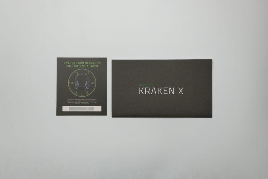 RAZER Kraken X ,Mercury White,白,付属品